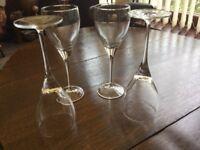 Tall wine glasses