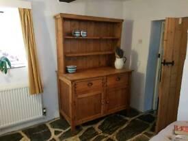 Rustic Farmhouse Waxed Pine Dresser