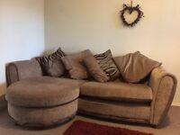 4 seater pillow lounger sofa