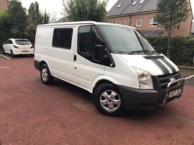 Ford Transit crewcrab 6 seater 2007 plate 165,000k 10 months mot drives like a dream solid van