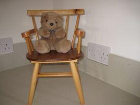 Vintage handmade toy display chair