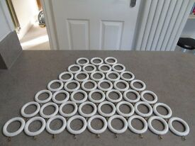 White Wooden Curtain Rings - Excellent Condition