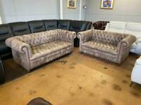 Chesterfield full buttoned sofas