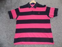 FREDD PERRY POLO TOP PINK/NAVY XL