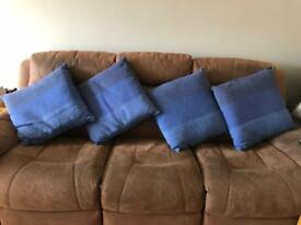 Habitat cushion cushions sofa pillows blue block mint lovely