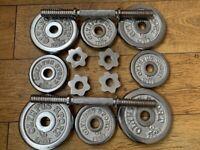 Solid Metal Dumbbells Set