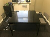 Glass Office Table and Chairs