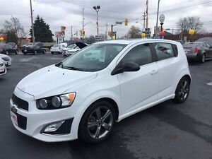 2013 CHEVROLET SONIC RS AUTO- SUNROOF, HEATED LEATHER SEATS, REM Windsor Region Ontario image 10