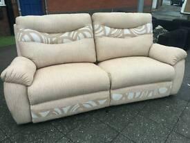 Harvey electric reclining sofa