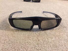 Panasonic 3D TV Active Glasses - Pair x2