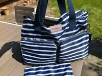 Cath Kidston breton stripe baby change bag
