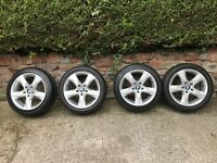 "BMW Spar Spoke Style 339 alloys 17"" plus run flats for E82 1 Series Coupe"