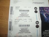 2 x Metallica Tickets Seated Manchester Arena 28th October 2017