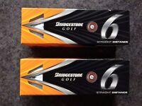Six Brand New Bridgestone E6 Golf Balls
