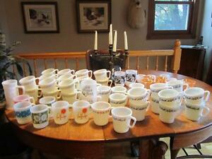 Tasse Glasbake  Fire king  Federal Glass  Pyrex milk glass AJOUT