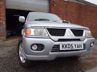 05 MITSUBISHI SHOGUN SPORT 2.5 DIESEL 4X4,MOT FEB 018,3 OWNERS FROM NEW,PART HISTORY,STUNNING 4X4