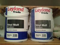 Leyland Trade Vinyl Matt Emulsion Paint 5L Magnolia - NEW, SEALED BUCKET!
