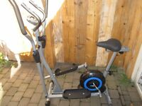 PRO FITNESS CROSSTRAINER - 2 in 1- EXERCISE BIKE - CARDIO FITNESS WORKOUT MACHINE