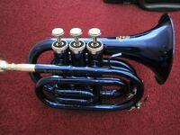 Stagg-Pocket trumpet Midnight blue