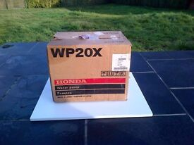Honda Water Pump WP20X in original box, immaculate only used twice