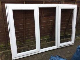 UPVC Dormer Window Frame, including two of three Glass Panels - Walkley, Sheffield