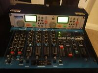 Dj mixer and 2 amps combined
