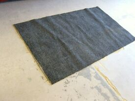 Black Rubber Backed Wet Mat. 157 by 91 cm