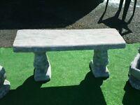 New Gorgeous Stone Garden Bench