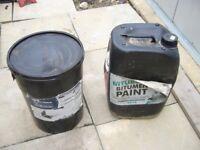 2X 25 Litre Black Bitumen Liquid Waterproof Damp Membrane Paint Floors Walls ceilings Cellars Garage