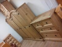 Corona Solid Mexican Pine Bedroom Furniture For Sale