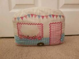 Double sided cutesy caravan door stop