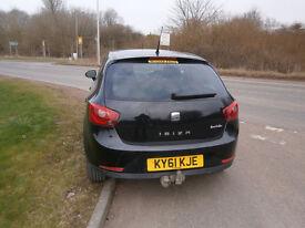 Seat Ibiza Sport 1.6L TDI, Black Nov 2011 43,000 miles