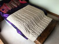 Laura Ashley beige bedspread
