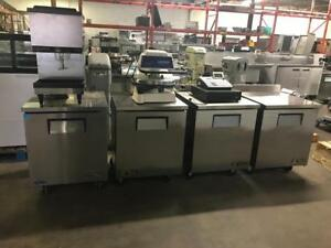 Four ( 27.5  true undercounter prep fridge ) like new only $895 special prices to sell