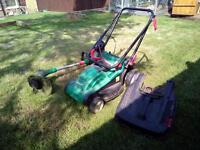 Qualcast electric lawnmower & strimmer