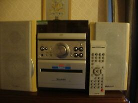 sharp small stereo system working
