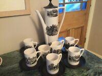 Portmeirion retro coffee set