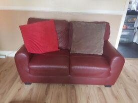 2 leather settees