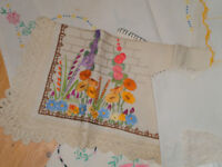 Job Lot Tablecloths - Damask, Lace and Embroidered. Various sizes
