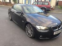 2008 08reg BMW 330d Convertible M Sport Black Automatic