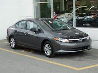 2012 Honda Civic DX Rétroviseurs électriques! Lecteur CD!