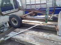 Car trailer spares or repair
