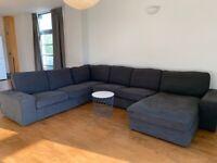 Used IKEA KIVIK Corner sofa, 6-seat, with chaise longue/Hillared anthracite
