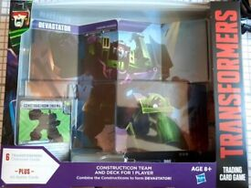 Transformers card game Constructicon set unopened.