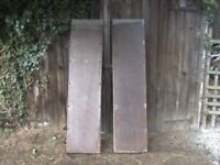 PAIR OF 5FT-3IN H/DUTY TRAILER ETC RAMPS GALV STEEL/BOARD....