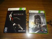 X BOX 360 Hitman and Dishonored