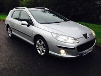 Peugeot 407 sw 2.0 hdi in excellent condition full service history mot till April panoramic roof
