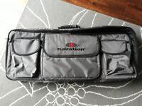 Novation Station gig bag 49: Grey padded bag designed to house novation station
