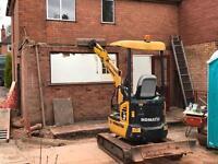Digger & driver hire all garden work undertaken