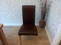 dining chairs x4 from oakfurniture land brown leather